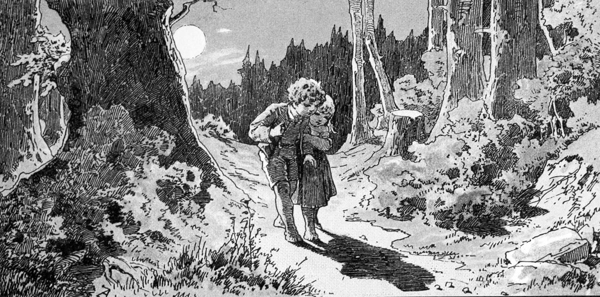 Plaatje Hans en Grietje